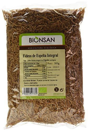 Bionsan Fideo Integral de Trigo Espelta - 6 Paquetes de 500 gr - Total: 3000 gr (4261116)