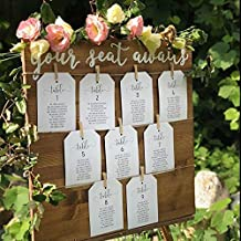 Wedding seating chart sign with twine and clothespins, escort card sign, find your seat, be our guest, your seat awaits