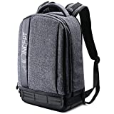 K&F Concept Lightweight DSLR Camera Backpack Water Resistant Nylon Multipurpose Bag for Canon Nikon Fuji and Other Cameras Laptop Ipad - Light Grey(17.32 * 6.30 * 11.42')