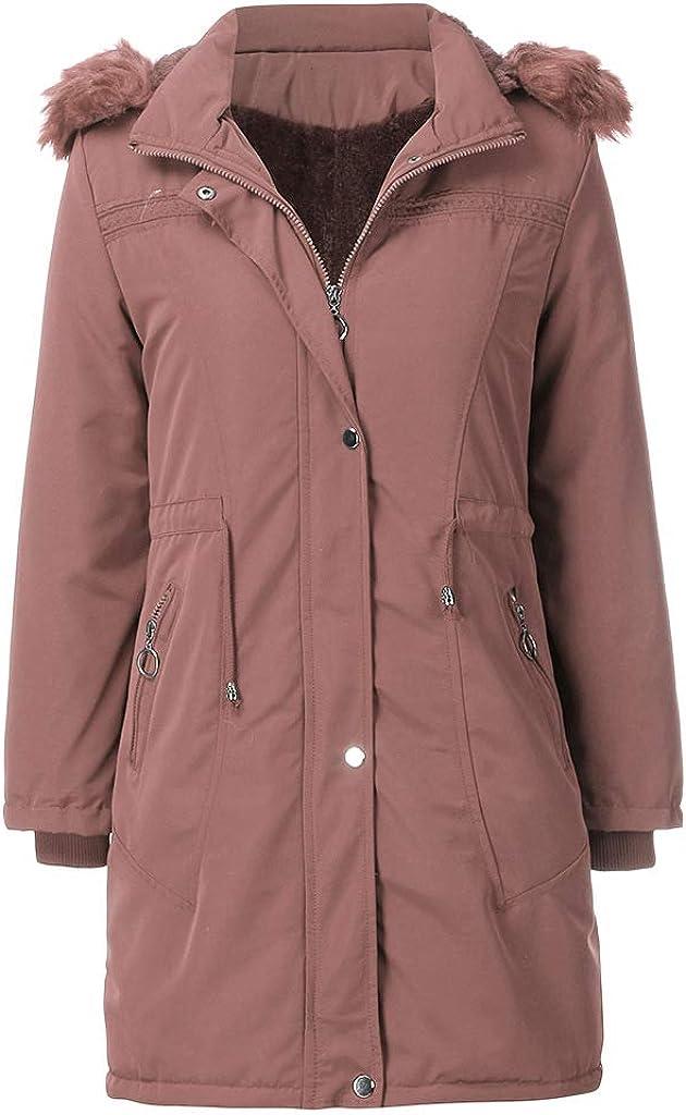 AILMY Women's Fleece Heavy-Weight Jackets Zip-up Dr New popularity Max 44% OFF Warm Thicken