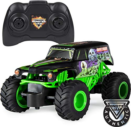 Monster Jam , Official Grave Digger Remote Control Monster Truck, 1:24 Scale, 2.4 GHz, for Ages 4 and Up, Multicolor