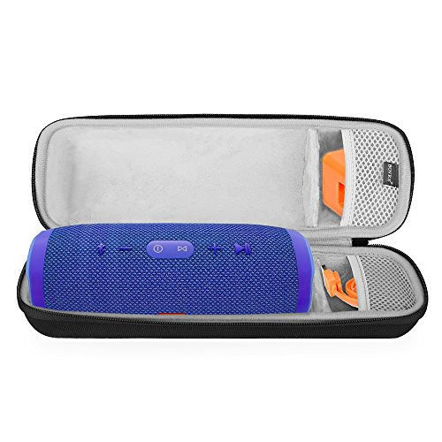 BOVKE for JBL Charge 3 Waterproof Portable Wireless Bluetooth Speaker Hard EVA Shockproof Carrying Case Storage Travel Case Bag Protective Pouch Box