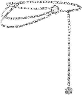 Weahre Women Waist Chain Belt Long Tassel Waistbands Hip Jewelry Body Chain Metal Link for Women Girls