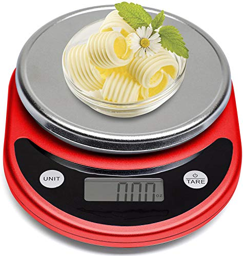 SEGIBUY Digitale multifunctionele keuken-/levensmiddelweegschaal voor het koken en bakken met Tara-functie en uitneembare glazen schaal, zeer nauwkeurig sensorsysteem