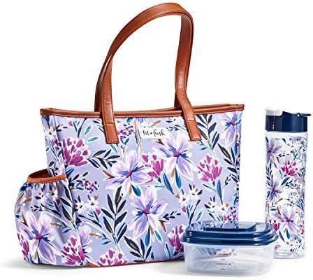 Fit Fresh Scottsboro Lunch Bag Large Lilac product image