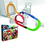 Smoby 180902WEB – FleXtreme Autorennbahn Starter Set – 184 Schienen + Rennauto, Rennbahn für Autos, für Kinder ab 4 Jahren, flexible Strecke mit Looping