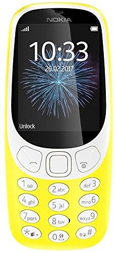 Nokia 3310 2G Mobiltelefon (2,4 Zoll Farbdisplay, 2MP Kamera, Bluetooth, Radio, MP3 Player, Single Sim) gelb