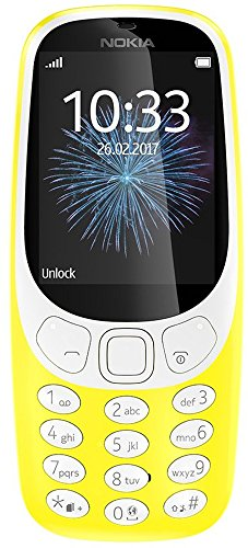 Nokia 3310 2G Mobiltelefon (2,4 Zoll Farbdisplay, 2MP Kamera, Bluetooth, Radio, MP3 Player, Single Sim) gelb