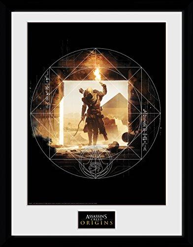 GB Eye Poster Assassins Creed Origins Wanderer Gerahmter Druck, mehrfarbig, 30x40cm