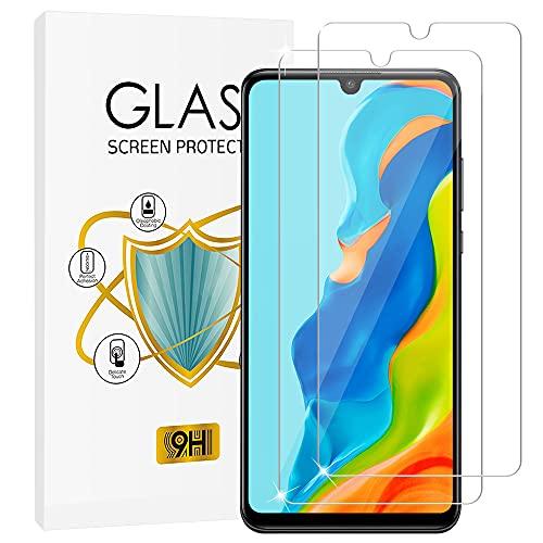 wsky Panzerglas für Huawei P30 Lite/Huawei P30 Lite New Edition [2 Stück], Anti-Kratzen, Blasenfrei, 9H Härte, 2.5D Rand, Ultra-klar Panzerglas für Huawei P30 Lite / P30 Lite New Edition