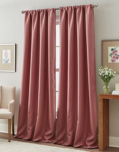 "Peri Home Formosa Curtain Panel, 84"", Berry"