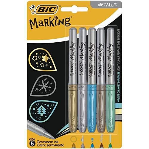 BIC Marking Mettalic Marcadores Permanentes Punta Media Cón