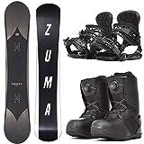 ZUMA (ツマ) 20-21 メンズ スノーボード 3点セット 板 ボード バインディング ブーツ FONTY フォンティー 初心者 zuma-set-i-151-ML-260