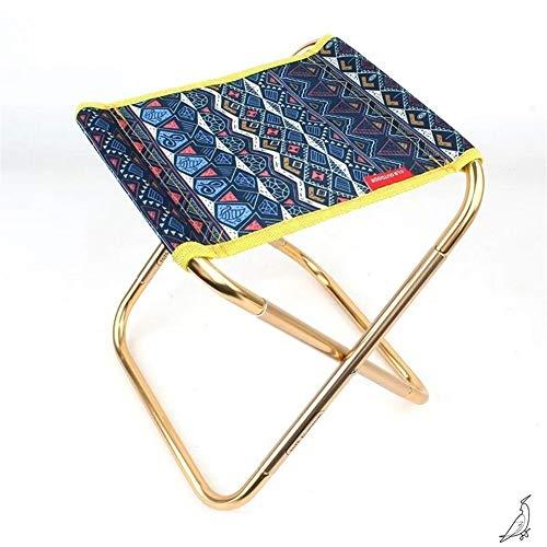 qidongshimaohuacegongqiyouxiangongsi angelausrüstung Hocker Zug Pferdeschwanz Outdoor-Camping-Aluminium-Stuhl for Erwachsene Mini tragbaren Grill Angelstuhl (Color : A)