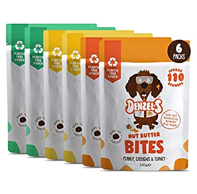Denzel's Healthy Dog Treats - Low Calorie, Low Fat, Grain Free, Hypoallergenic, Natural Dog Treats - Meat Medley: Soft 'n' Squishy Low Calorie Training Treats x 6 Plastic-Free Pouches (6 x 100g)
