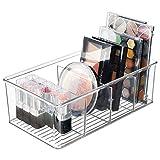 mDesign Organizador de maquillaje – Práctica caja de almacenaje con 4...