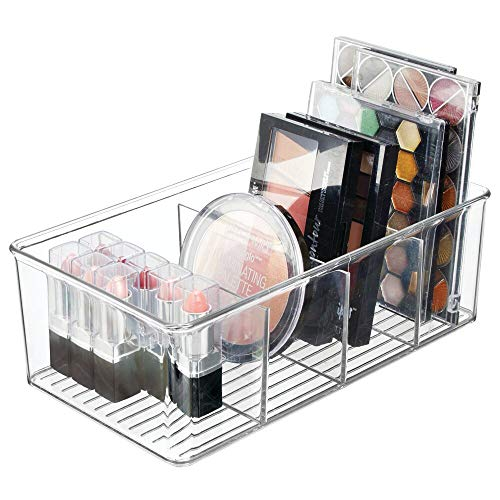 mDesign Kosmetik Organizer – praktische Aufbewahrungsbox mit 4 Fächern für Lippenstift,...