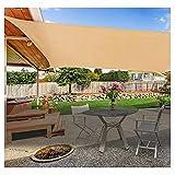 2x3 2x4 2,5x3m 300D toldo Vela Cubierta de toldo para el Sol Lona de Sombra al Aire Libre Toldos para jardín Paño Impermeable para sombrilla de Coche(Size:3.6x3.6m(12'*12'))