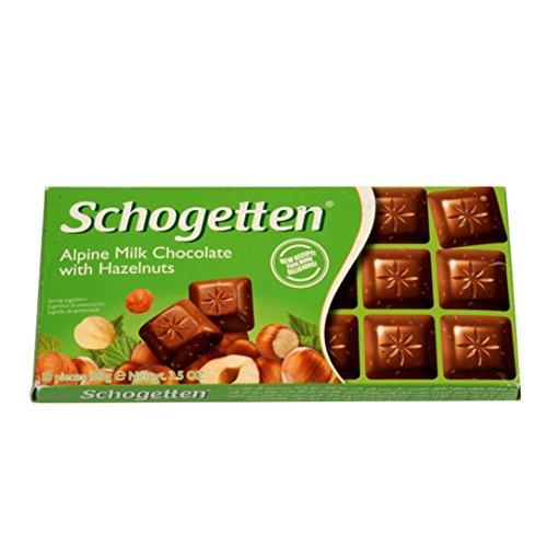 Schogetten - Alpine Milk Chocolate & Hazelnuts - Importado Alemanha - 100g