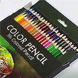 36 lápices acuarelables de dibujo artístico Set de Lápices Colores Profesional para colorear, dibujar y sombrear Ideal para Artistas, Adultos y Niños