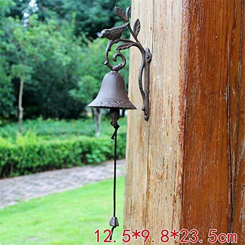 LNDDP Antike Türklingel Vogel Wand Telefon Glocke Kreative gusseiserne Dinner Bell Hanging für Dekoration Yard Sign