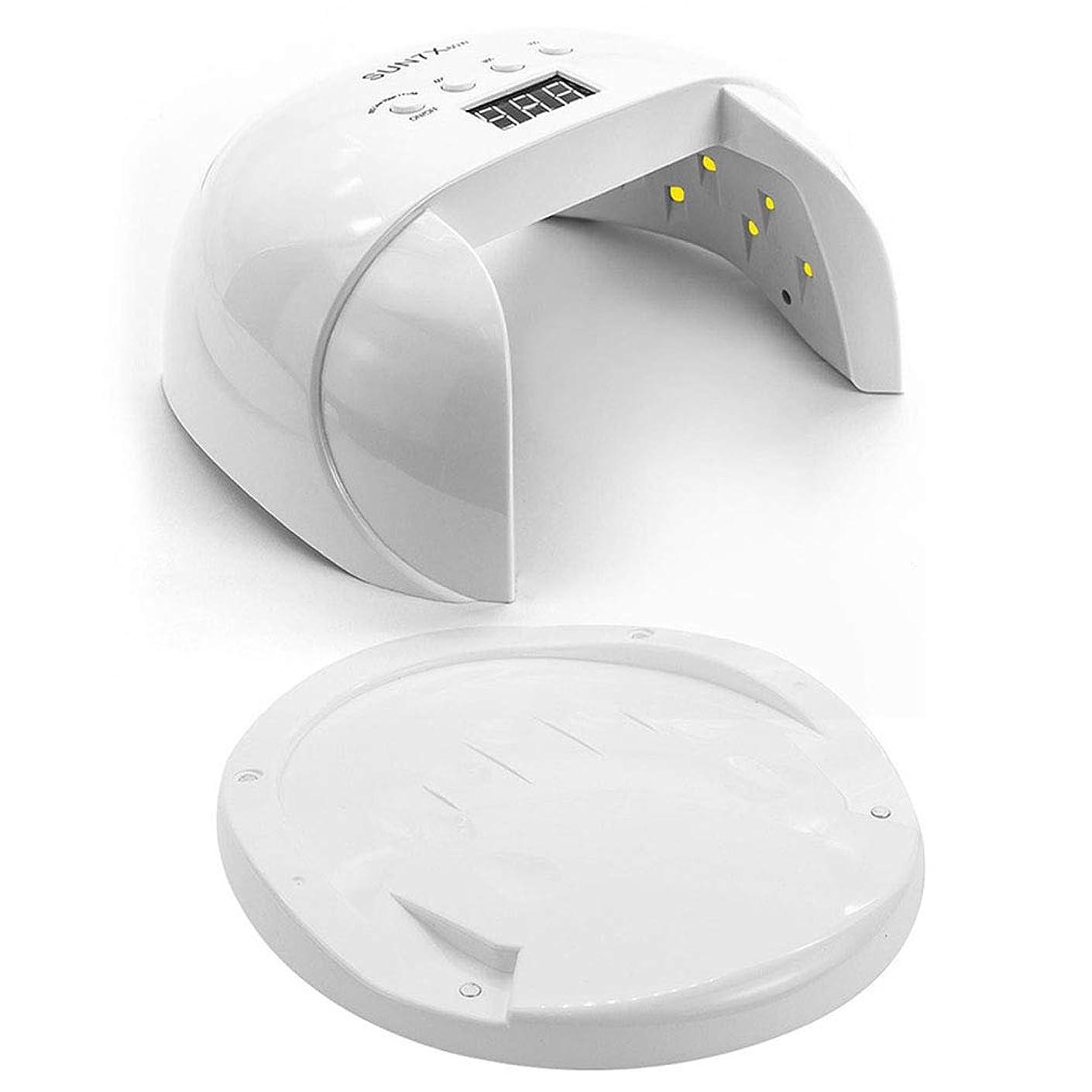 60ワットネイルドライヤー、タイマー付きネイル用ポータブルLED/UVランプ、赤外線センサー、LCDディスプレイ、すべてのジェルに適して