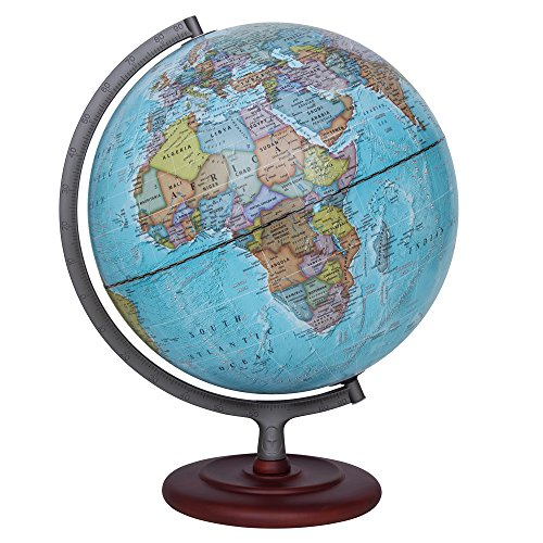 "Waypoint Geographic Light Up Globe - Geographic Mariner 12"" Desk Decorative Illuminated Globe with Stand, up to Date World Globe"