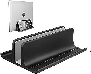 調節可能 ノートパソコン スタンド 縦置き pcスタンド ノートパソコン用ベースでもあり、スペースを節約できる一つ三役のノートパソコン縦置きスタンドです。 収納 ホルダ MacBook Pro Air、Mac、HP、Dell、Microsoft...