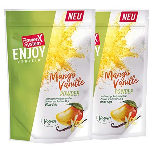 Power System veganes Protein 2 x 360g - pflanzliches Eiweiss (Mango-Vanille) Enjoy