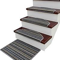 カーペット階段踏面パッド、 滑り止め 接着剤 階段の踏み板 ステップラグ 安全敷物/マット にとって 木製の床 イージーケア (Color : B, Size : 20pcs24x75cm)