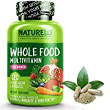 NATURELO Whole Food Multivitamin for Women 50+ (Iron Free) - with Natural Vitamins, Antioxidants, Enzymes & Fruit Extracts - Best Complete Multivitamin Without Iron - 120 Vegan Capsules US