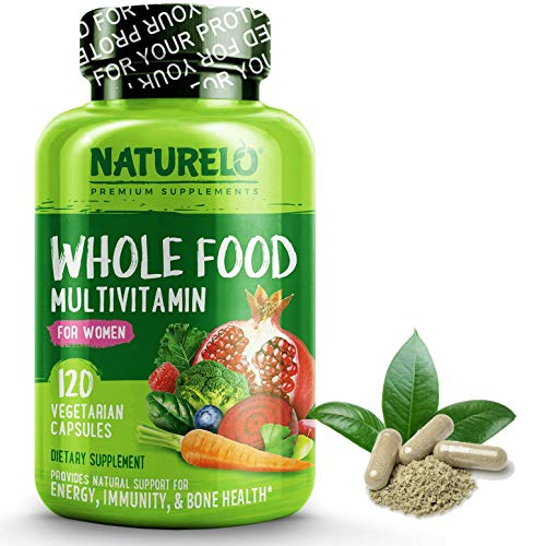 NATURELO Whole Food Multivitamin for Women - with Natural Vitamins, Antioxidants, Enzymes & Fruit Extracts - Best Complete Multivitamin - 120 Vegan Capsules | 1 Month Supply US