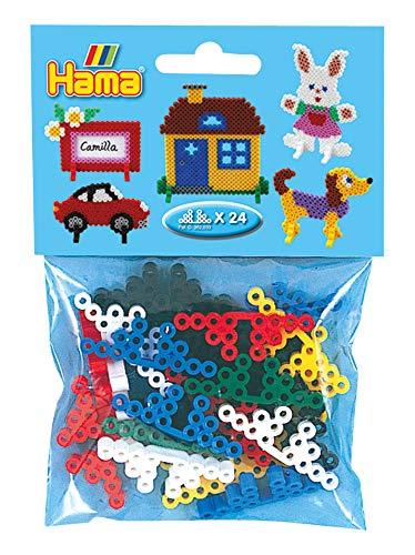 Hama Perlen 645 Motivstützen für Midi Motive, 24 Stück, Mehrfarbig