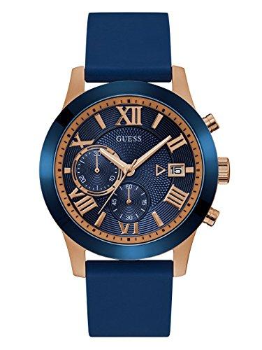 Guess Reloj Analógico para Hombre de Cuarzo con Correa en Silicone W1055G2