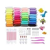 KidsHobby 36 Colores Slime Kit - DIY Arcilla Colorida de Caucho de Barro Magia Plastilina - Juguetes Educativos sin Tóxicopara Niños - Regalo Creativo de Cumpleaños para Niños de 3 años/5 años/7 años