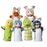 Melissa & Doug Pet Buddies Hand Puppets, Set of 6 (Cat, Dog, Horse, Parrot, Turtle, Rabbit)
