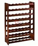 Bakali Home CANTINETTA 56 posti Porta Bottiglie in Legno Multistrato di Betulla, Dimensioni cm. 67x25xh.100 (Marrone)