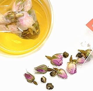 Cha Wu-Rose Jasmine Green Tea,25 Tea Bags/Box,Pink Roes & Jasmine Dragon Ball Green Tea,Strong Flower Aroma and Fresh Taste,No Additive. (25 count)