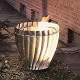 Design Feuerkorb, moderner Feuerkorb in silber aus Stahl feuerverzinkt, 50 x 54 cm, Feuerstelle, Feuerschale, für Garten & Terrasse