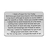 UJIMS Guardian Angel Engraved Metal Wallet for Man Husband Boyfriend Wallet Insert Card I Said A Prayer for You Today Inspiration Jewelry (Guardian Angel Metal Wallet)