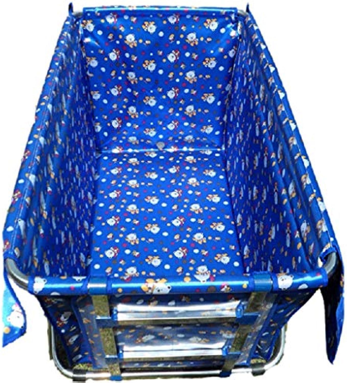 Home praktische Badewanne Dickere aufblasbare Faltbadewanne (Farbe   Blau)