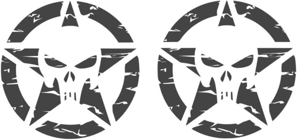 generisch 2 x Punisher Retro Star Pegatinas de Calavera US Army Sticker 286//8