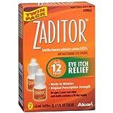 Zaditor Antihistamine Eye Drops Twin Pack (2 bottles - 0.17 fl oz each) 0.34 fl o by Zaditor