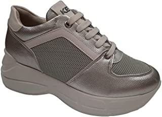 Keys Scarpe Donna da Ginnastica Sneakers in Pelle Argento 700-SILVER
