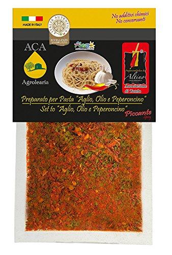 Italia Autentica ACA012 - Preparato per pasta 'Aglio,olio e peperoncino piccante' - busta da 25 gr