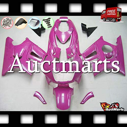 Auctmarts Injection Fairing Kit ABS Plastics Bodywork with FREE Bolt Kit for Honda CBR600F3 CBR 600 F3 1995 1996 1997 1998 Plain Solid Metal Pink Purple (P/N:1p17)