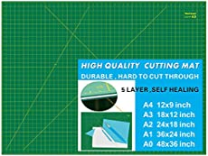 WORKLION 18'' x 24'' Large Self Healing PVC Cutting Mat, Double Sided, Gridded Rotary Cutting Board for Craft, Fabric, Quilting, Sewing, Scrapbooking - Art Project