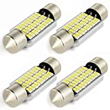 Safego 4x C5W LED 36mm 27 SMD 3014 6411 6418 DC 12V 3W Bombilla Festoon Interior del Coche Xenón Blanco 6000k