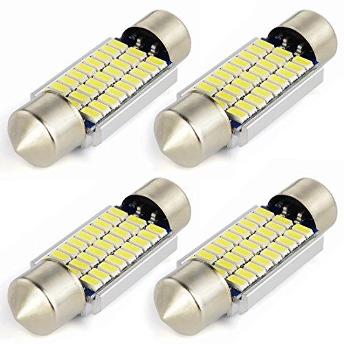 Safego 4x C5W led anti erreur 36mm Blanc 3014 ampoules 27SMD Dôme voiture Intérieur LED Lumière DC 12V