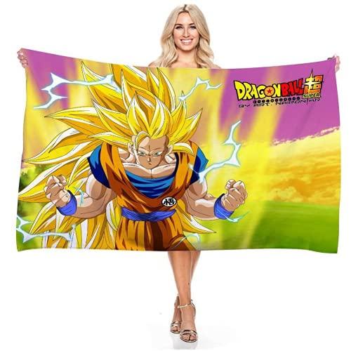 YIOUY Dragon Ball Toallas Playa Grandes De Anti Arena De Microfibra para Hombre Mujer, Manta Playa, Toalla Yoga Deporte Gimnasio, Toallas Baño (D,90x180cm)